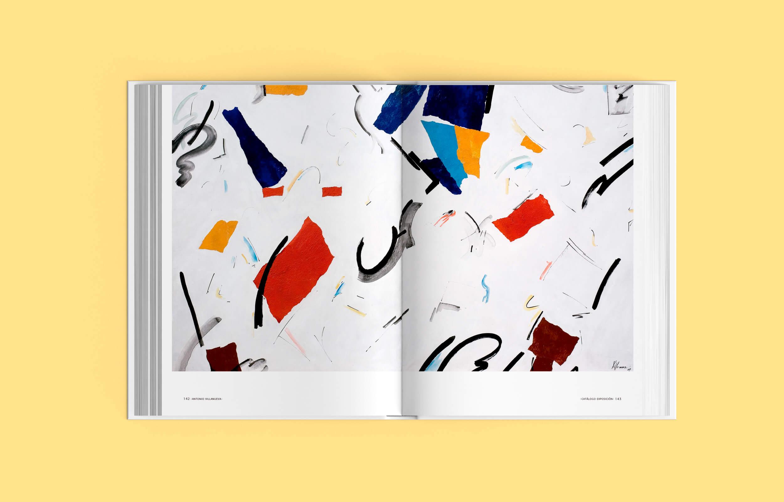 Páginas interiores del libro del artista Ibicenco Antonio Villanueva
