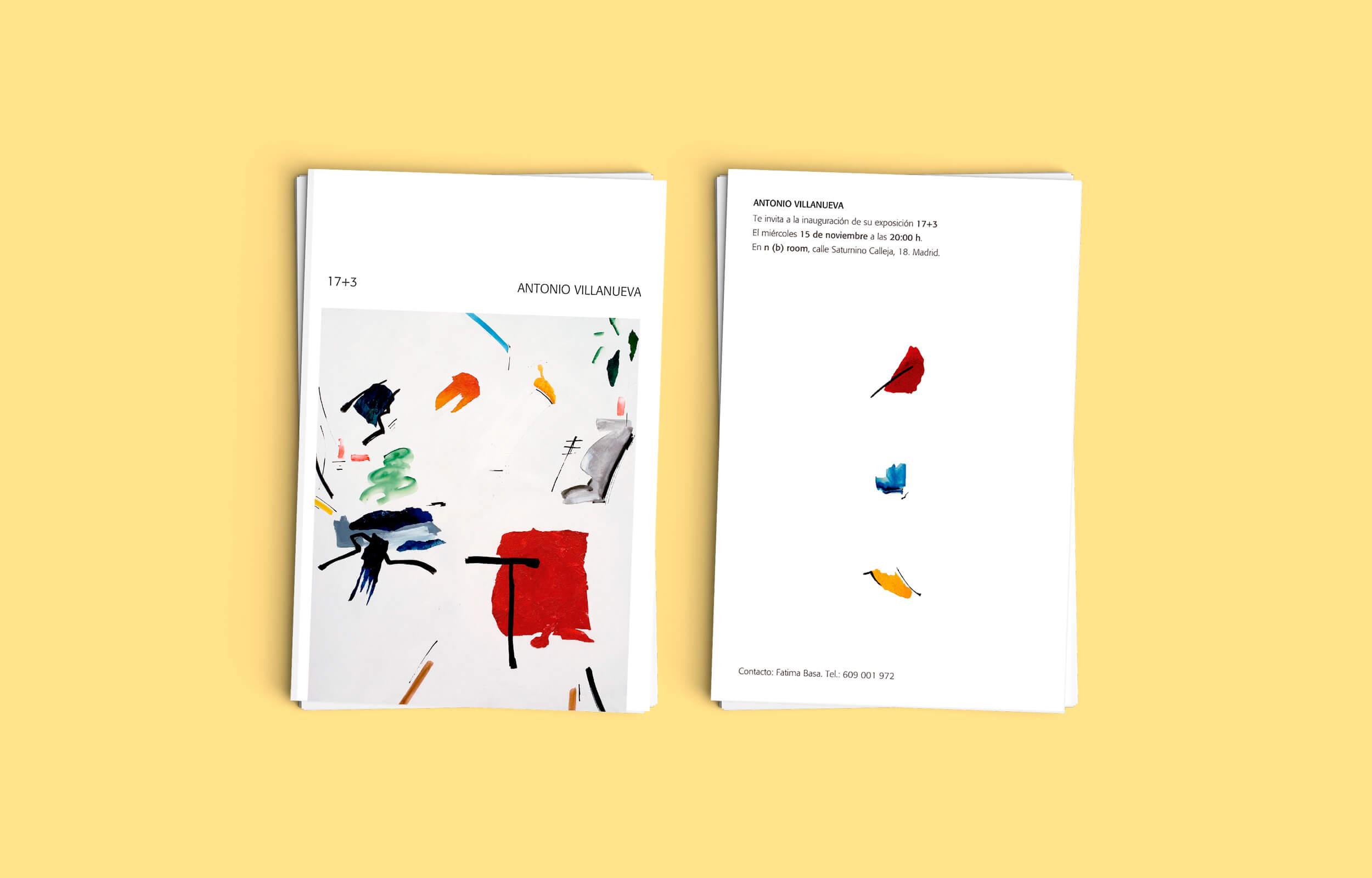 Invitaciones para la presentación del del libro del artista Ibicenco Antonio Villanueva