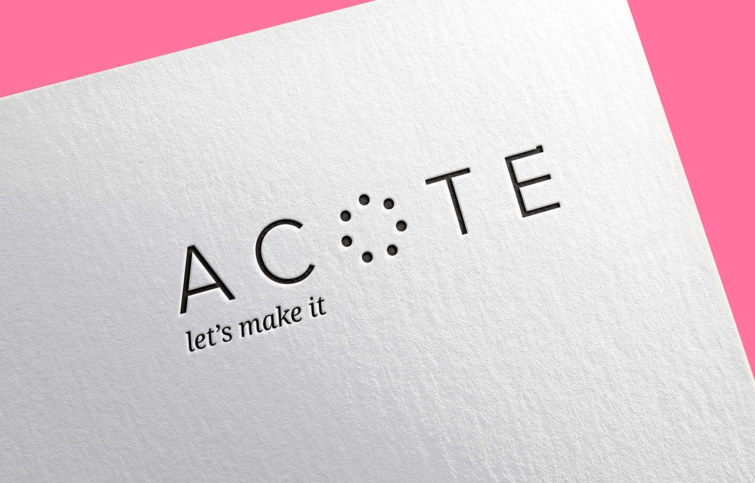 Marca gráfica (logotipo e imagotipo) para el estudio de arquitectura con sede en Madrid y México Acote