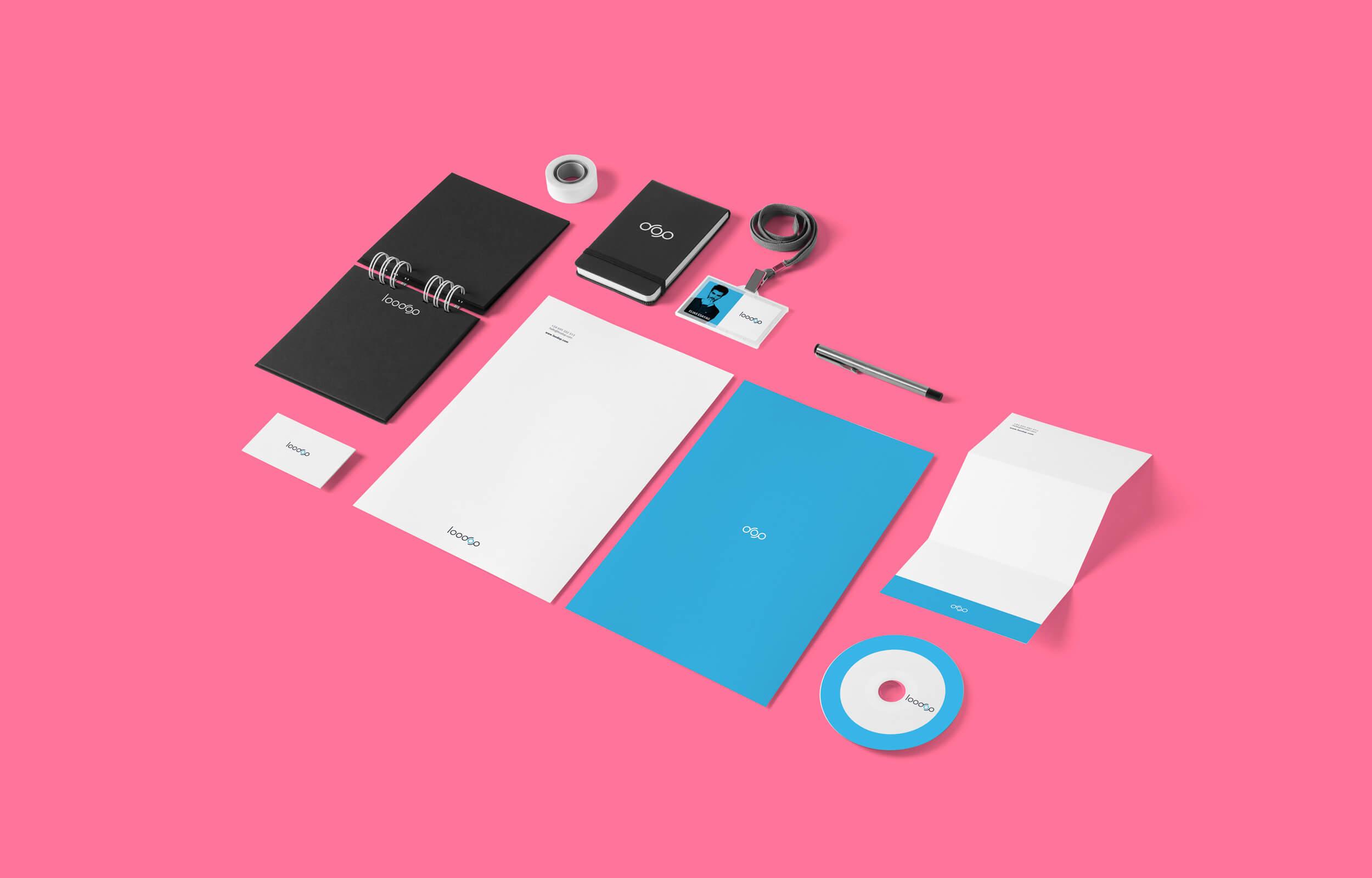 Diseño de marca gráfica (logotipo + imagotipo) y desarrollo de la papelería y piezas de comunicación para Loodop.