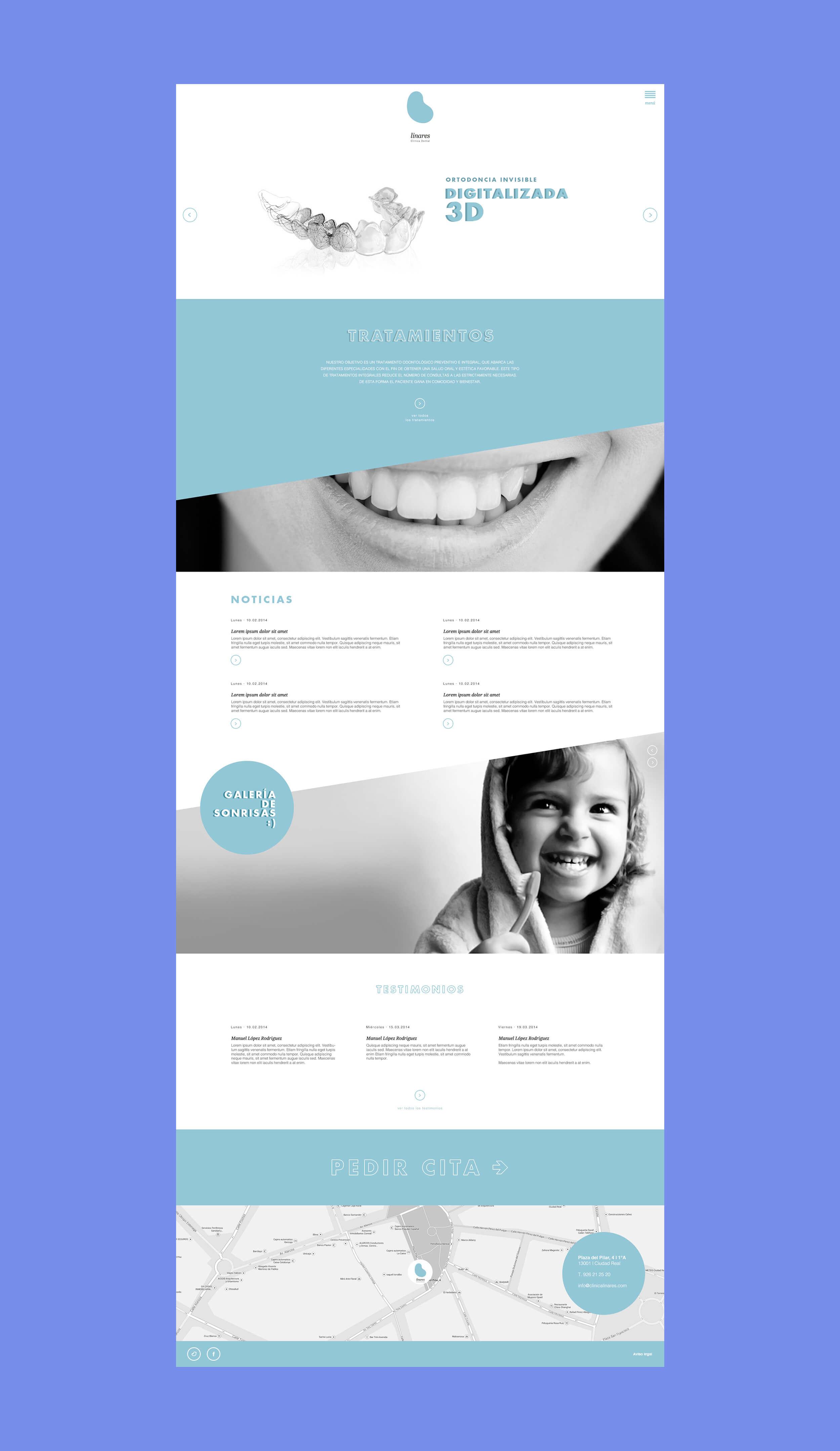 Diseño y programación de web para la Clínica Odontológica Linares