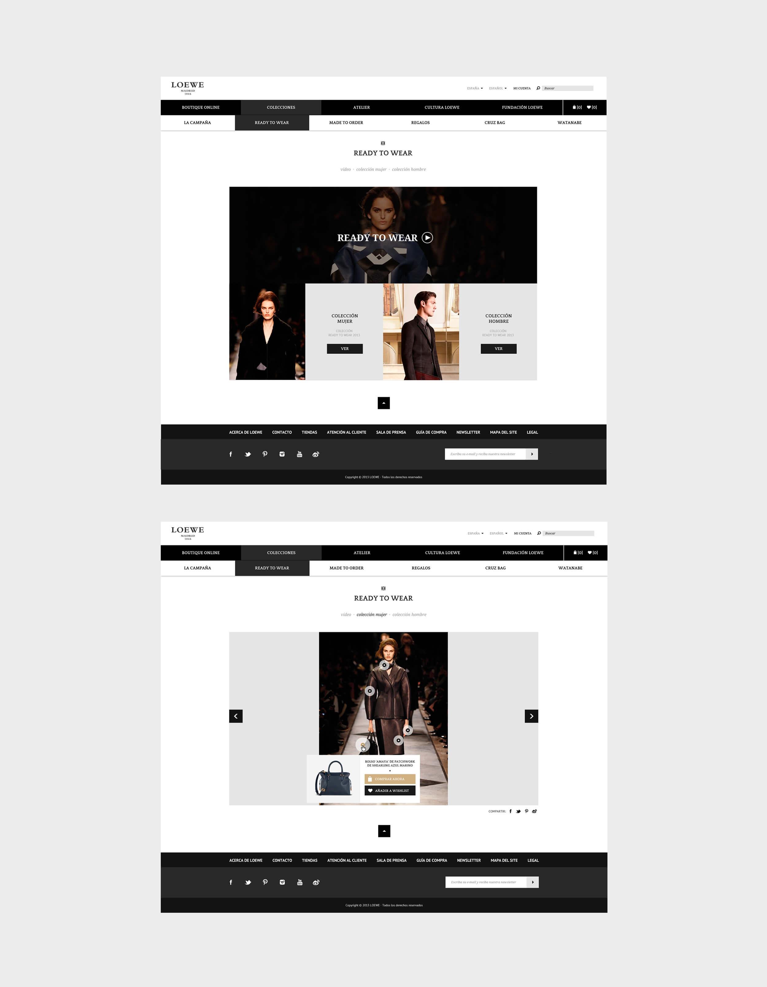 Propuesta de diseño y usabilidad para la web del Loewe