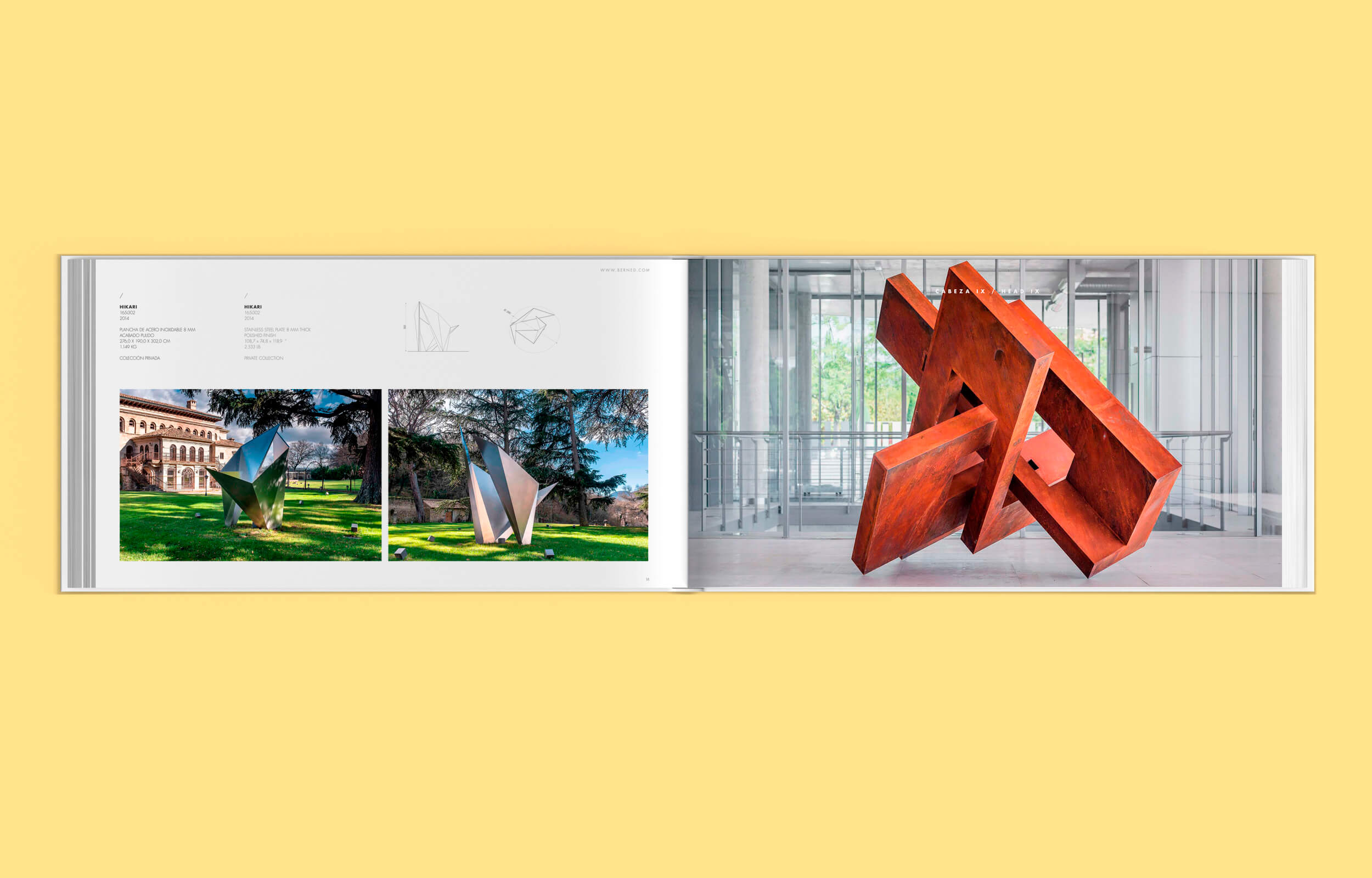 Diseño y maquetación del dossier de obra del escultor madrileño Arturo Berned
