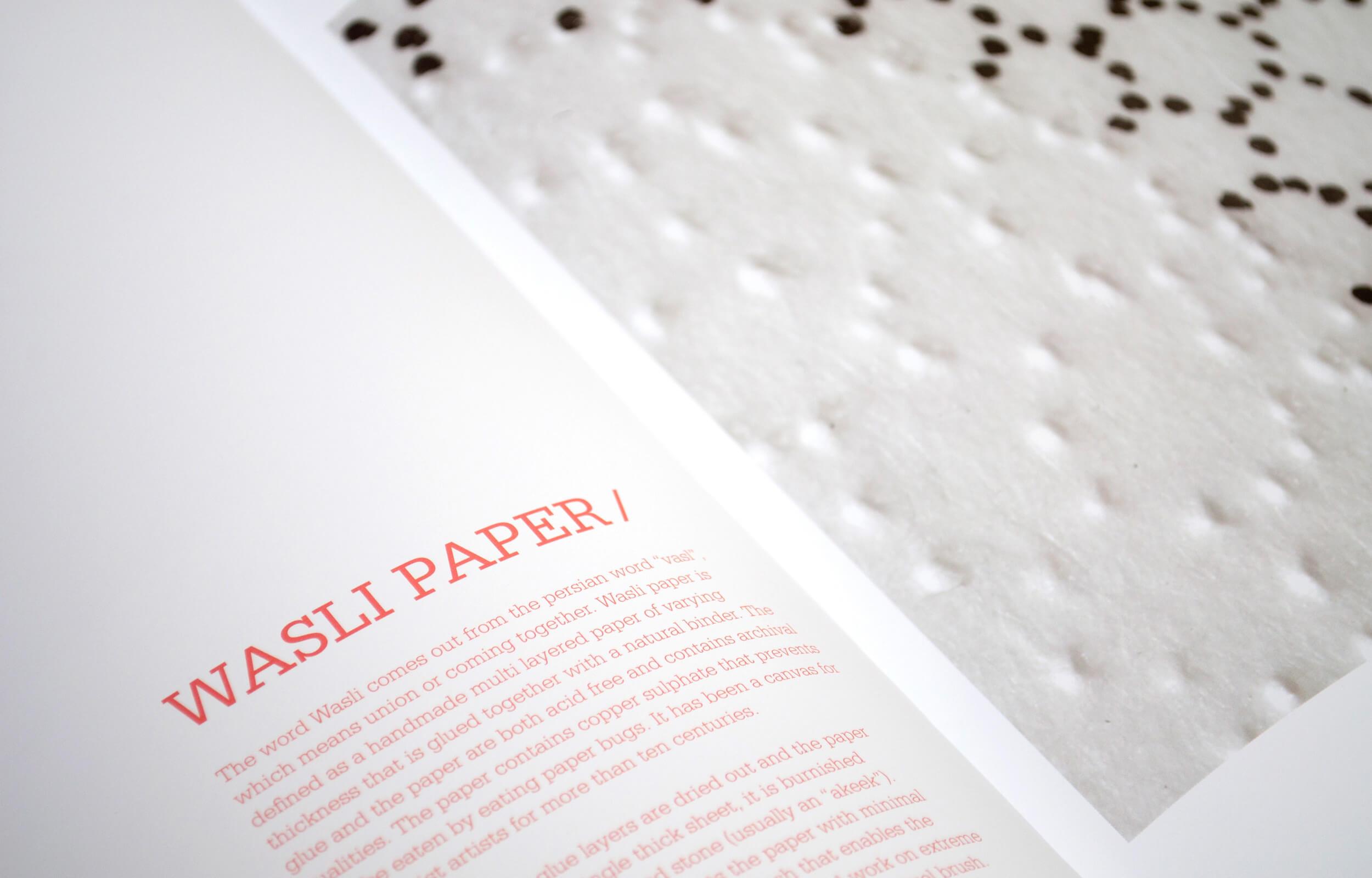 """Detalle de páginas interiores del libro """"Abstraction Contained"""" del artista Pakistaní Waqas Khan para la galería Sabrina Amrani"""