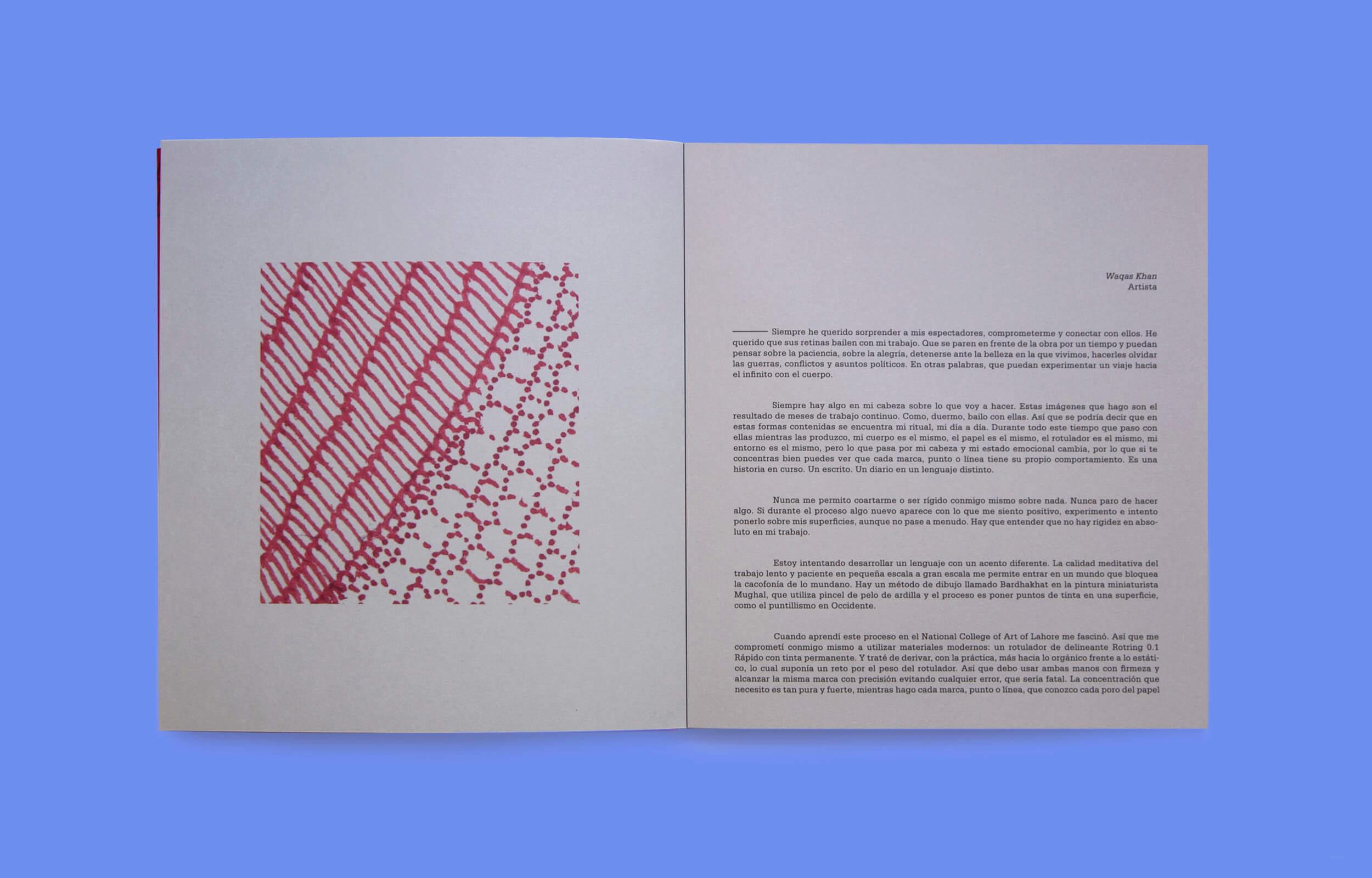 """Detalle interior del libro """"The Untitled Show"""" del artista Pakistaní Waqas Khan"""