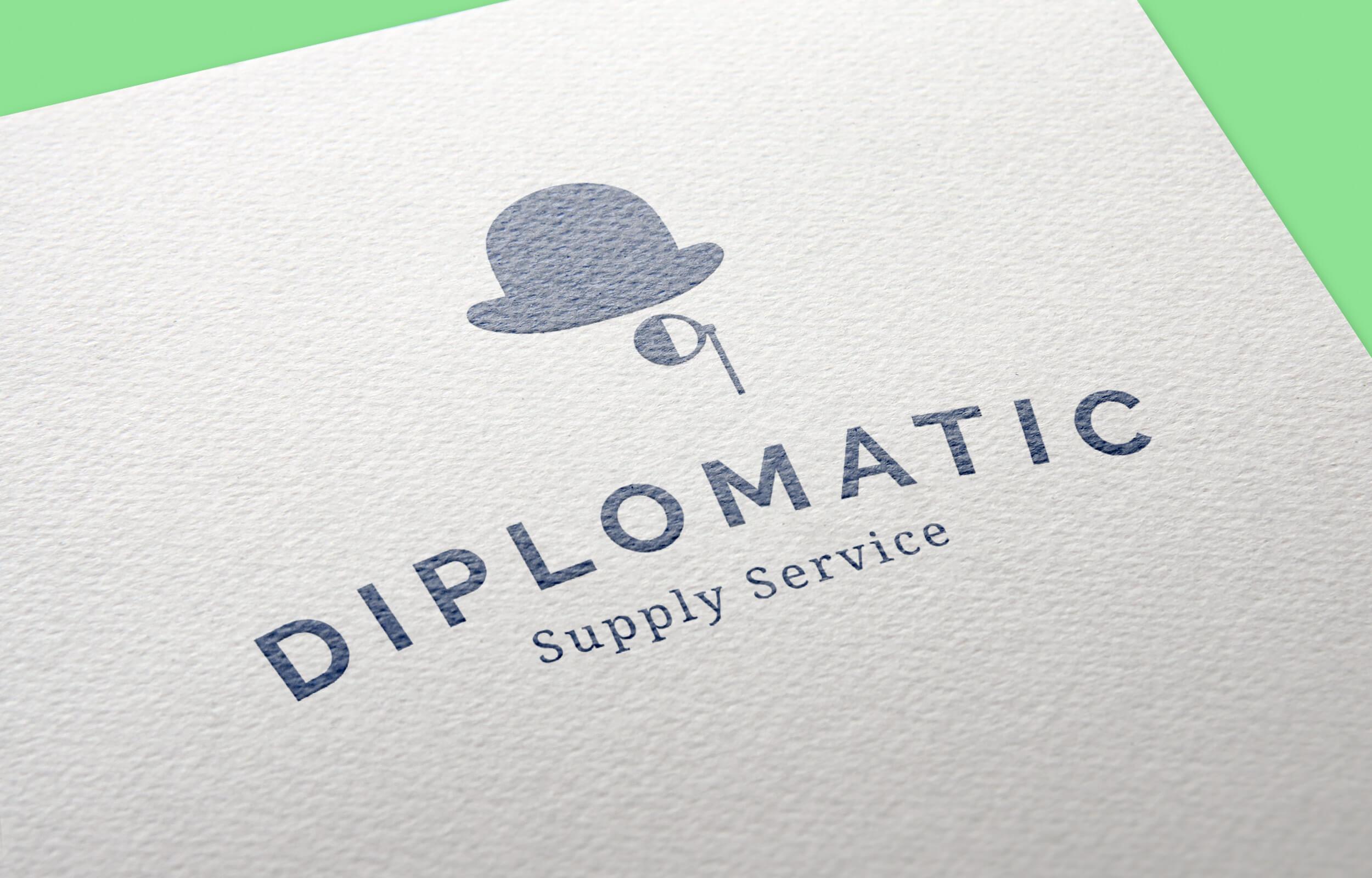 Marca Gráfica impresa sobre papel para Diplomatic
