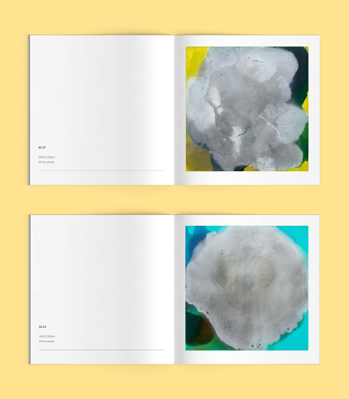 Páginas interiores del catálogo de Arte para la exposición