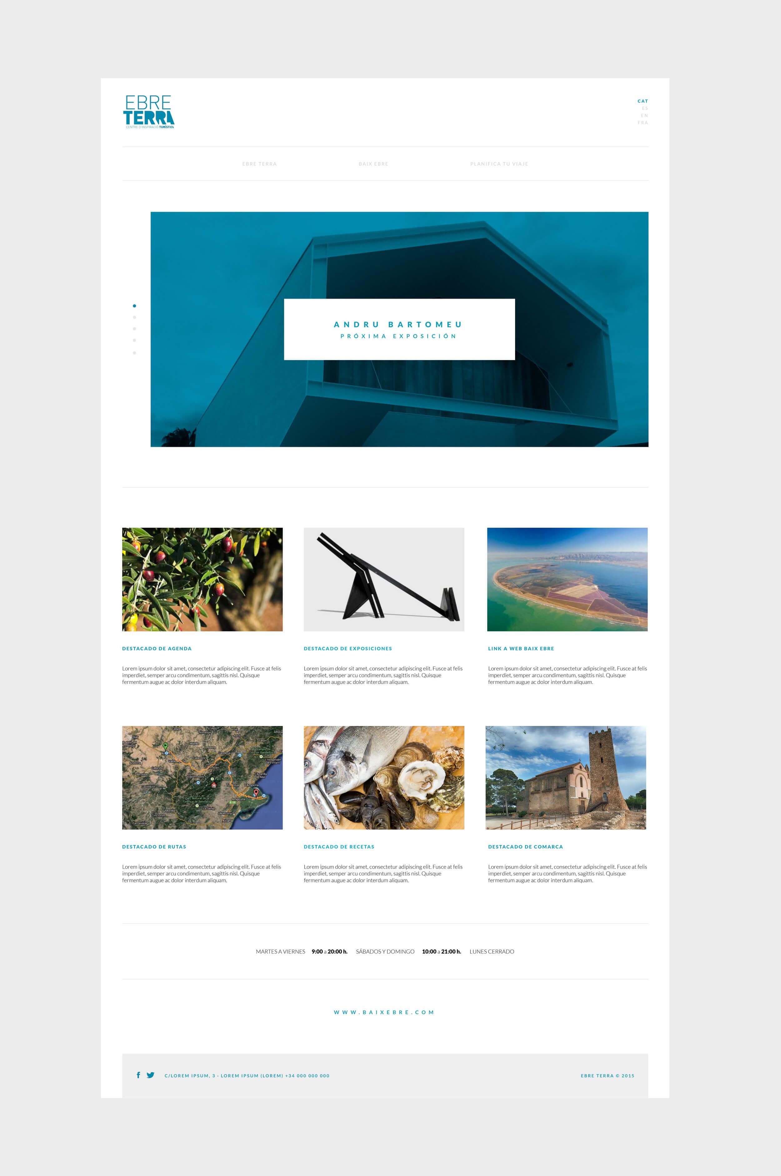 Diseño y programación de la web para el Centre Ebre Terra