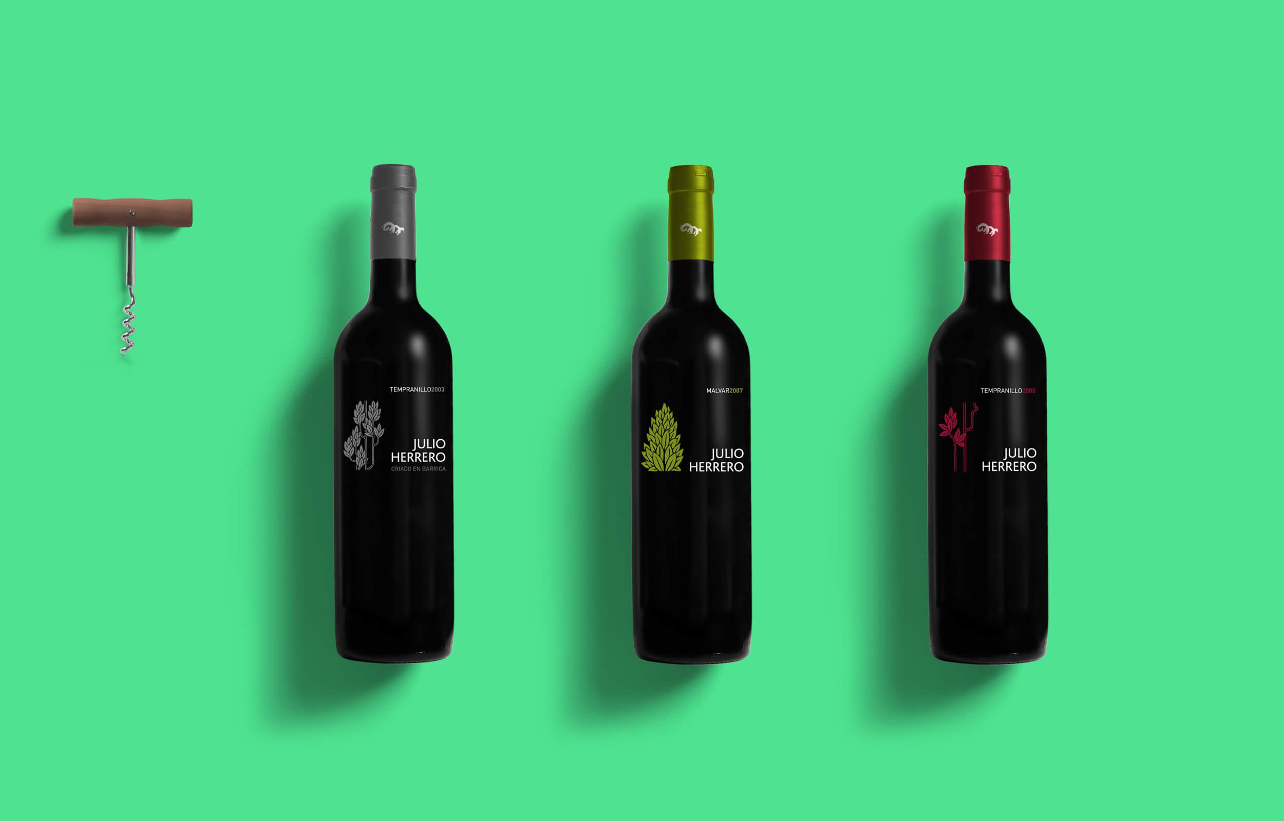 Diseño de etiquetas y tampones para Solera Bodegas