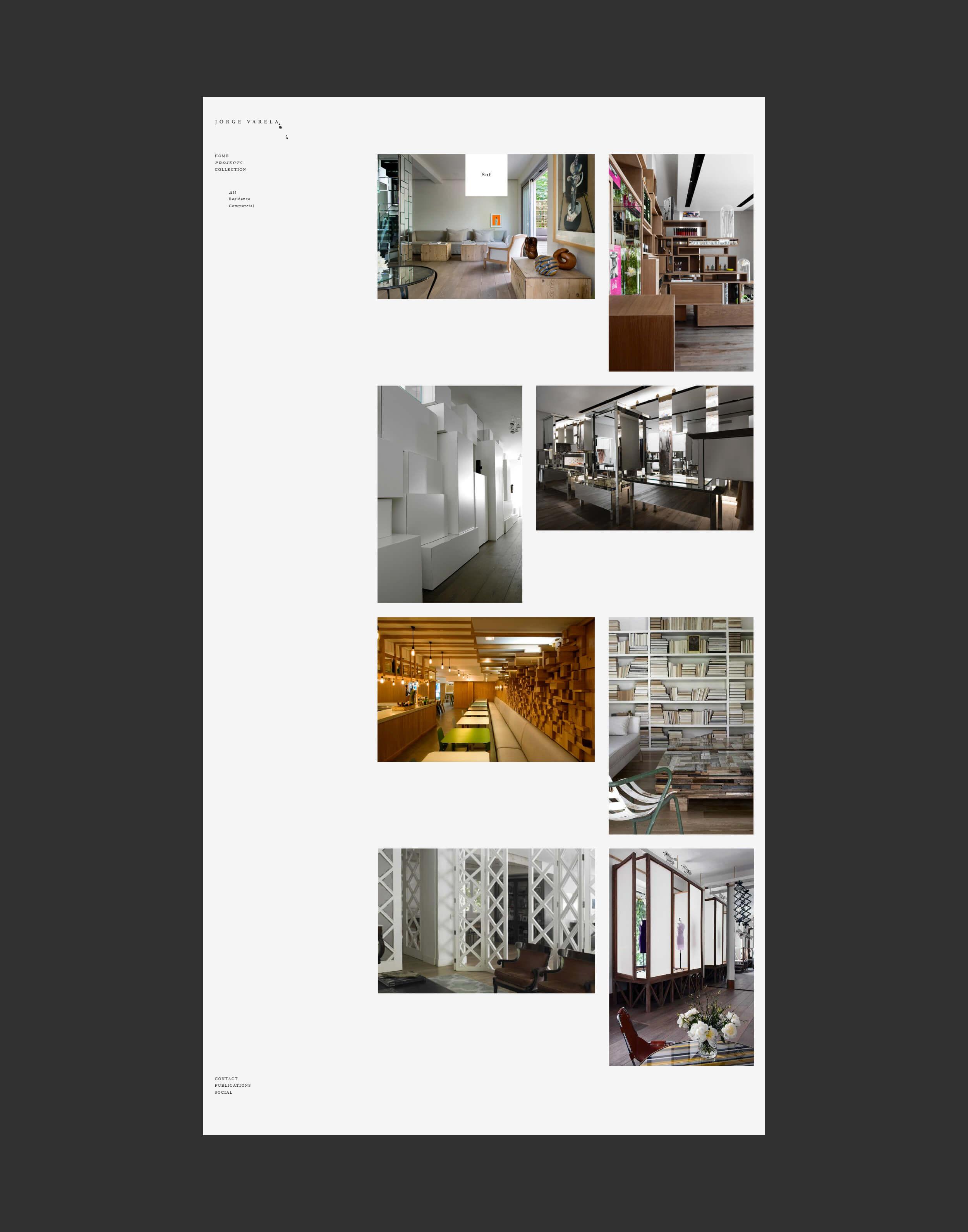 Interior de la web del interiorista Madrileño Jorge Varela